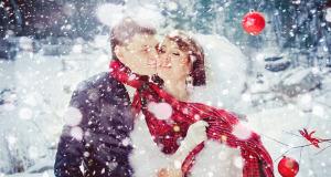 Отмечание свадьбы зимой